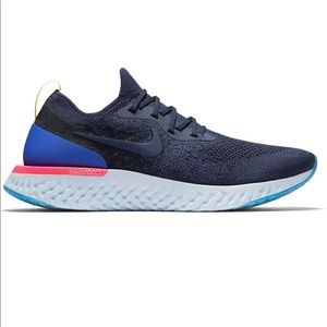 Nike Mens Epic React Flynit College Og Navy 10.5